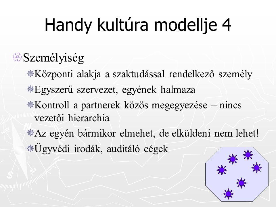 Handy kultúra modellje 4