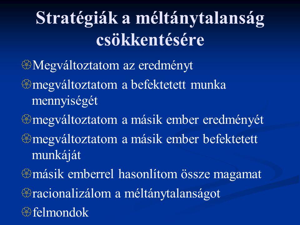 Stratégiák a méltánytalanság csökkentésére