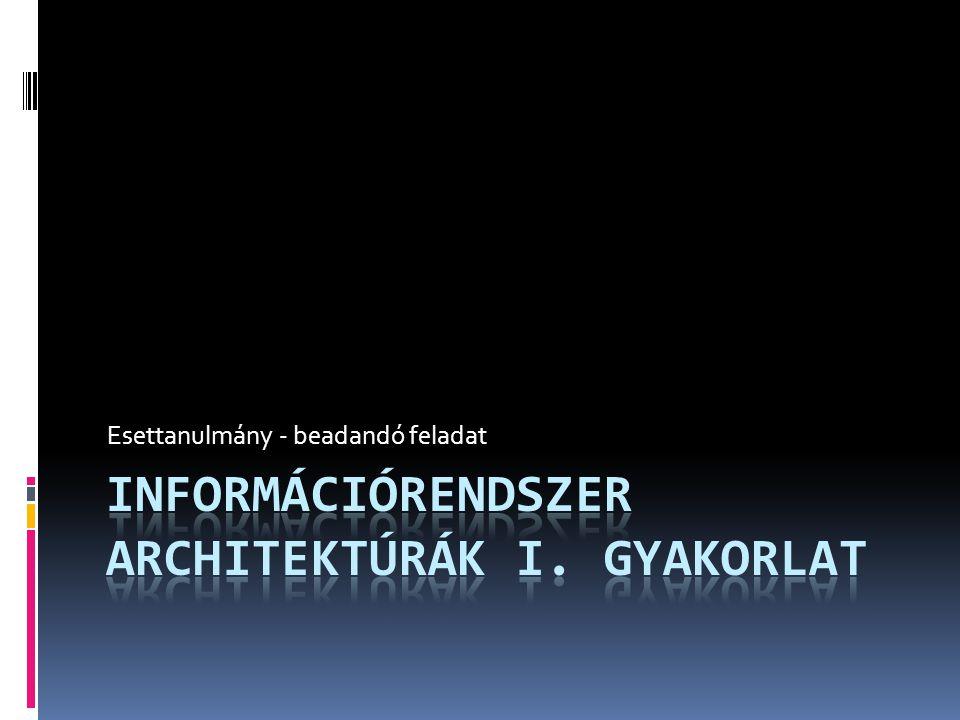Információrendszer architektúrák I. gyakorlat