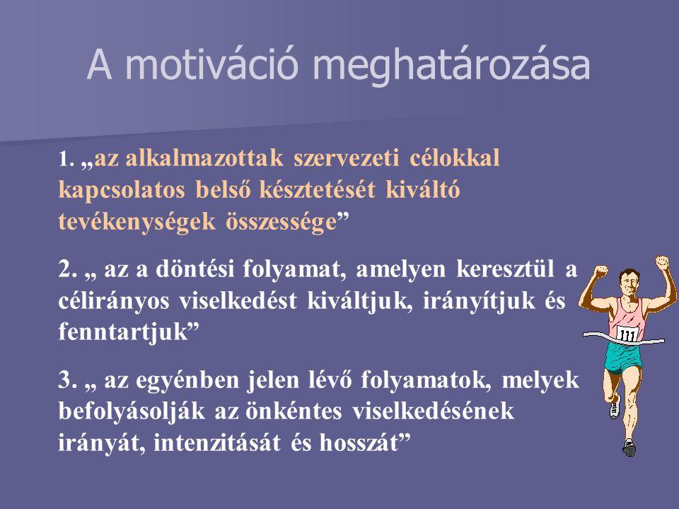 A motiváció meghatározása
