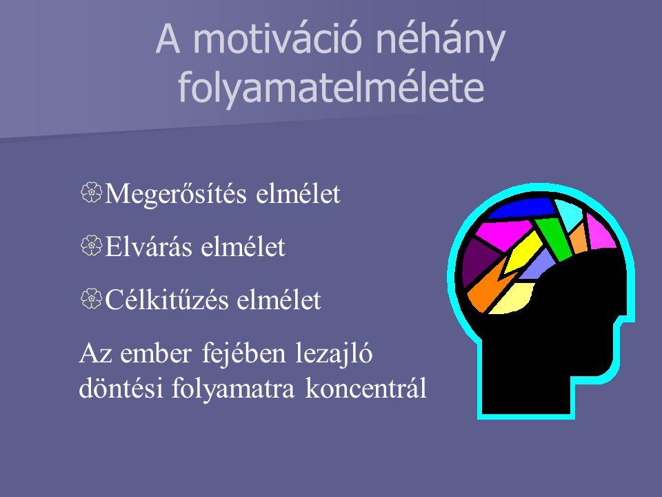 A motiváció néhány folyamatelmélete