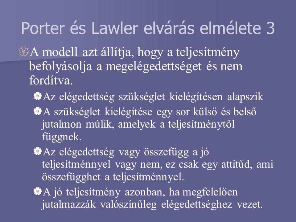 Porter és Lawler elvárás elmélete 3