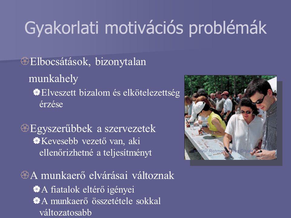 Gyakorlati motivációs problémák