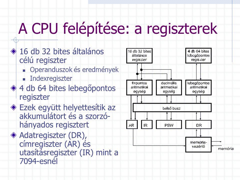 A CPU felépítése: a regiszterek