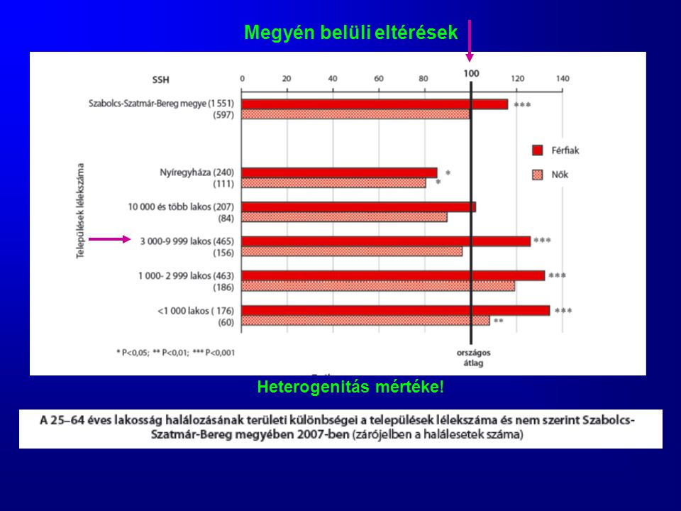 Megyén belüli eltérések Heterogenitás mértéke!