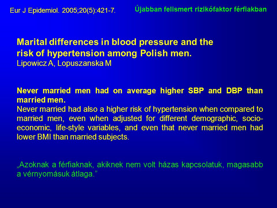 Marital differences in blood pressure and the