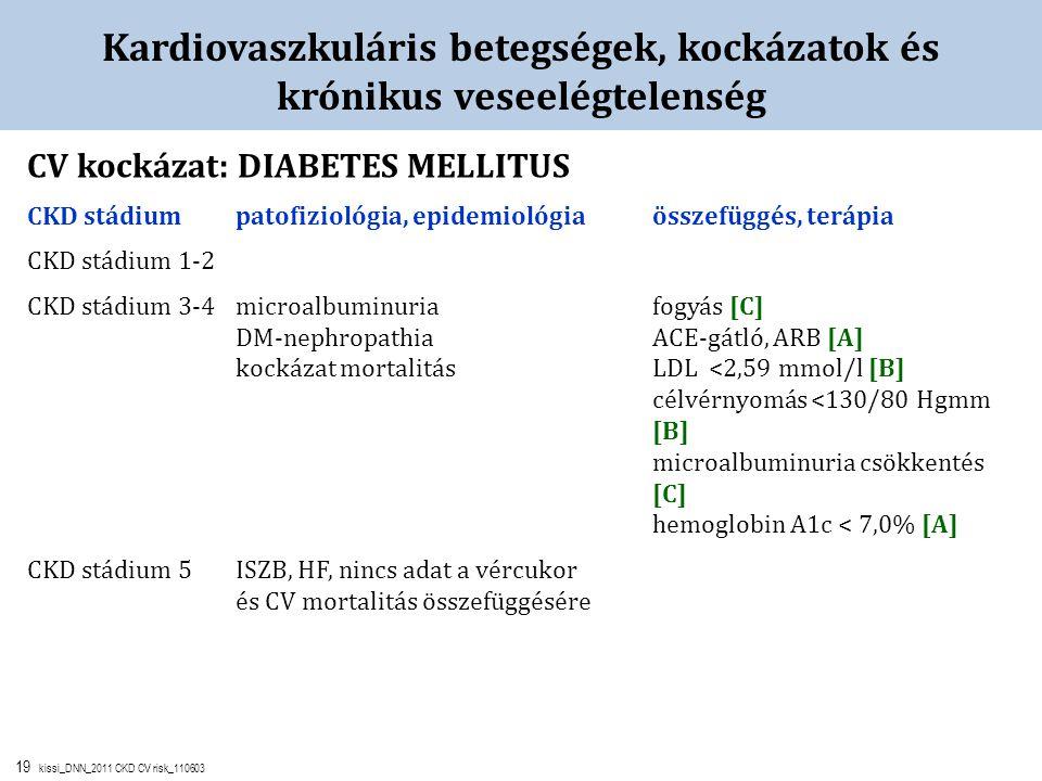 Kardiovaszkuláris betegségek, kockázatok és krónikus veseelégtelenség