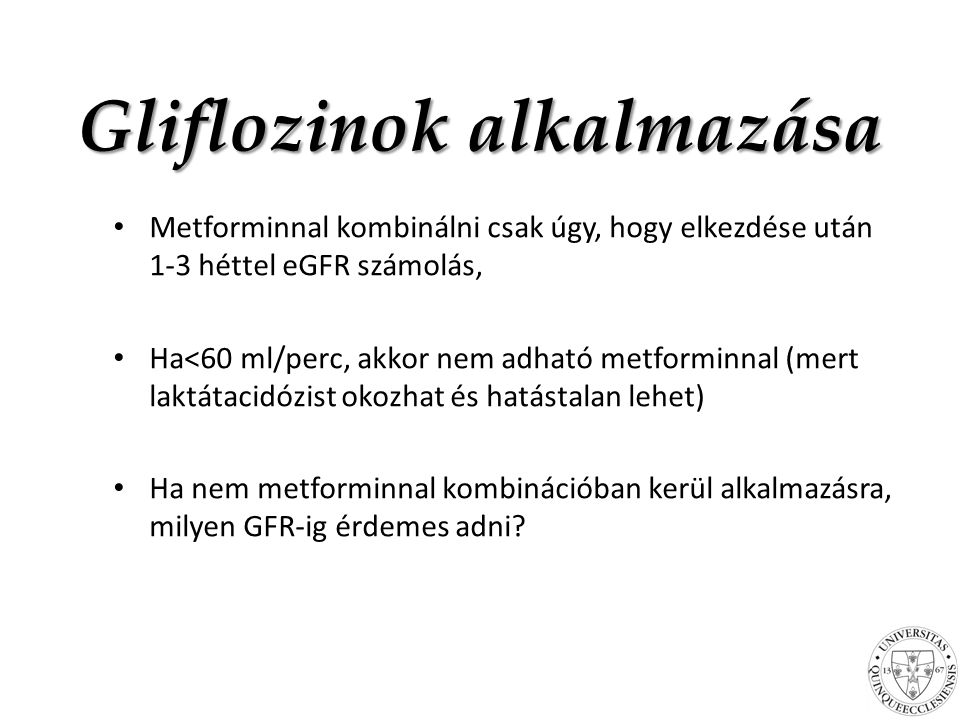 Gliflozinok alkalmazása