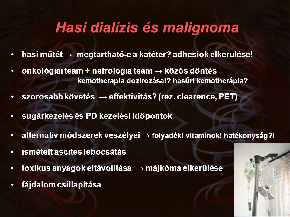Hasi dialízis és malignoma