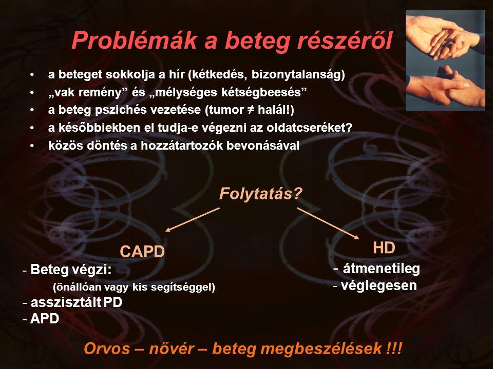 Problémák a beteg részéről