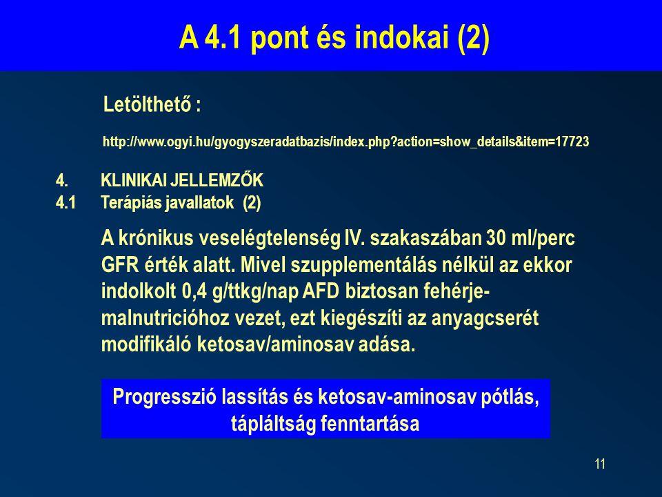 A 4.1 pont és indokai (2) Letölthető :
