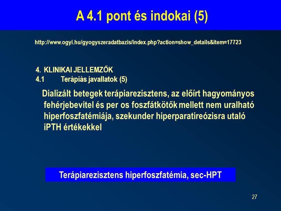 Terápiarezisztens hiperfoszfatémia, sec-HPT