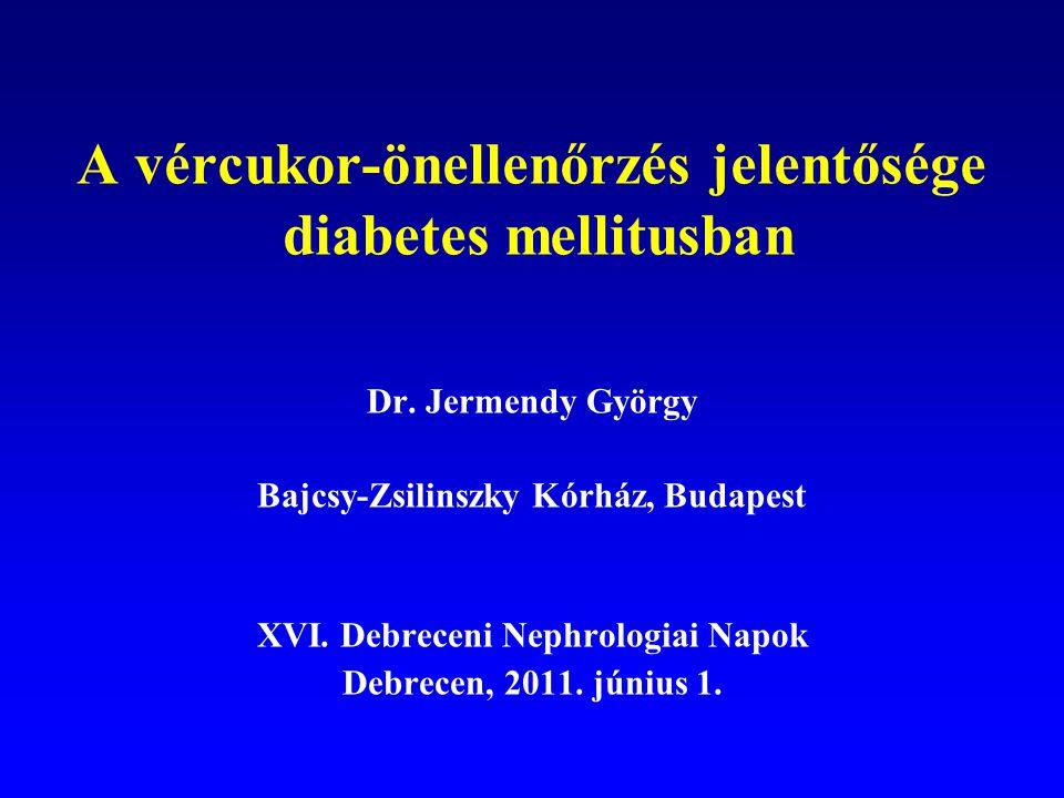 A vércukor-önellenőrzés jelentősége diabetes mellitusban