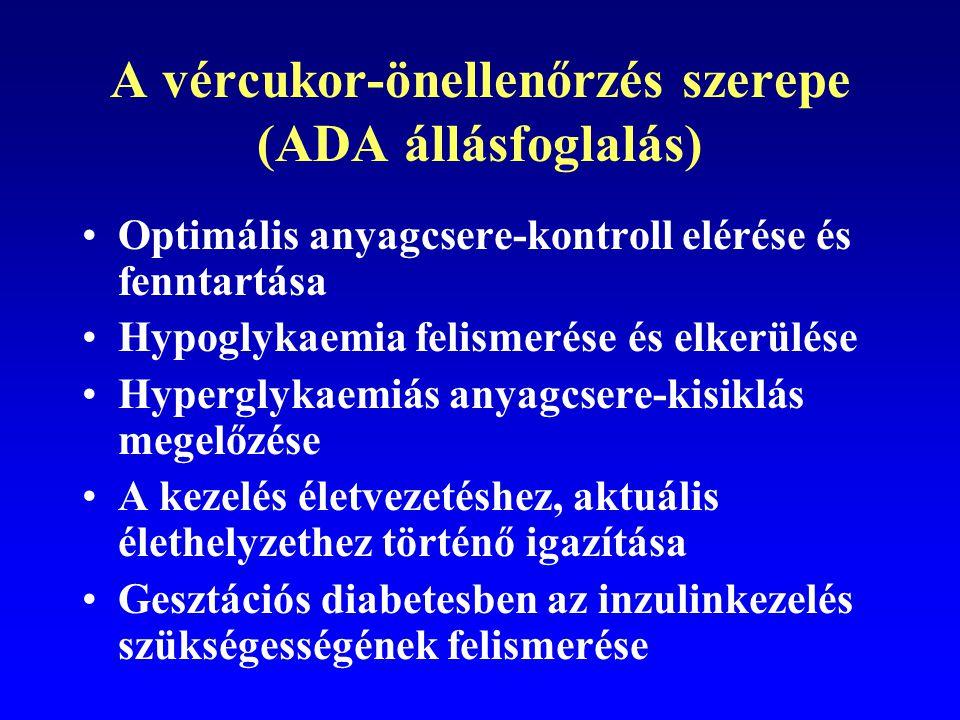 A vércukor-önellenőrzés szerepe (ADA állásfoglalás)