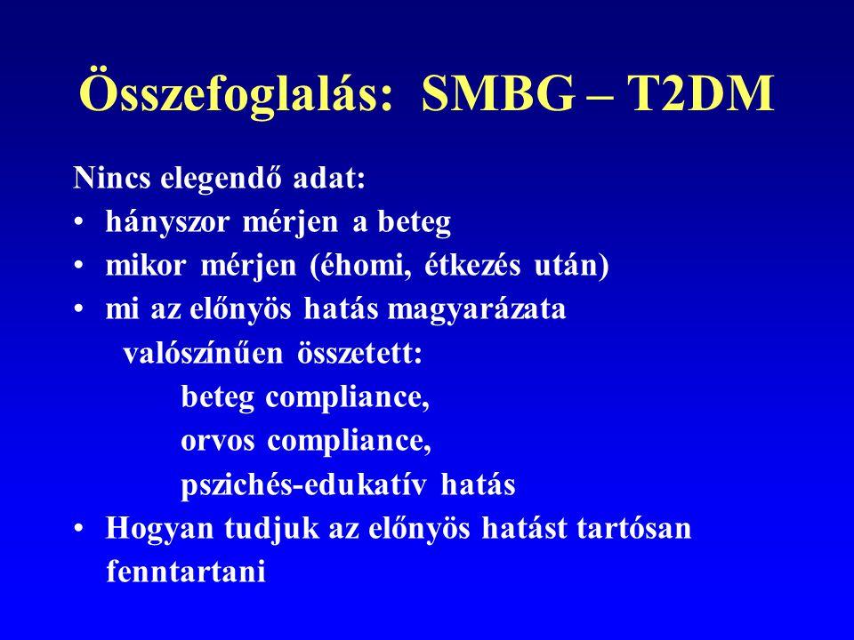 Összefoglalás: SMBG – T2DM