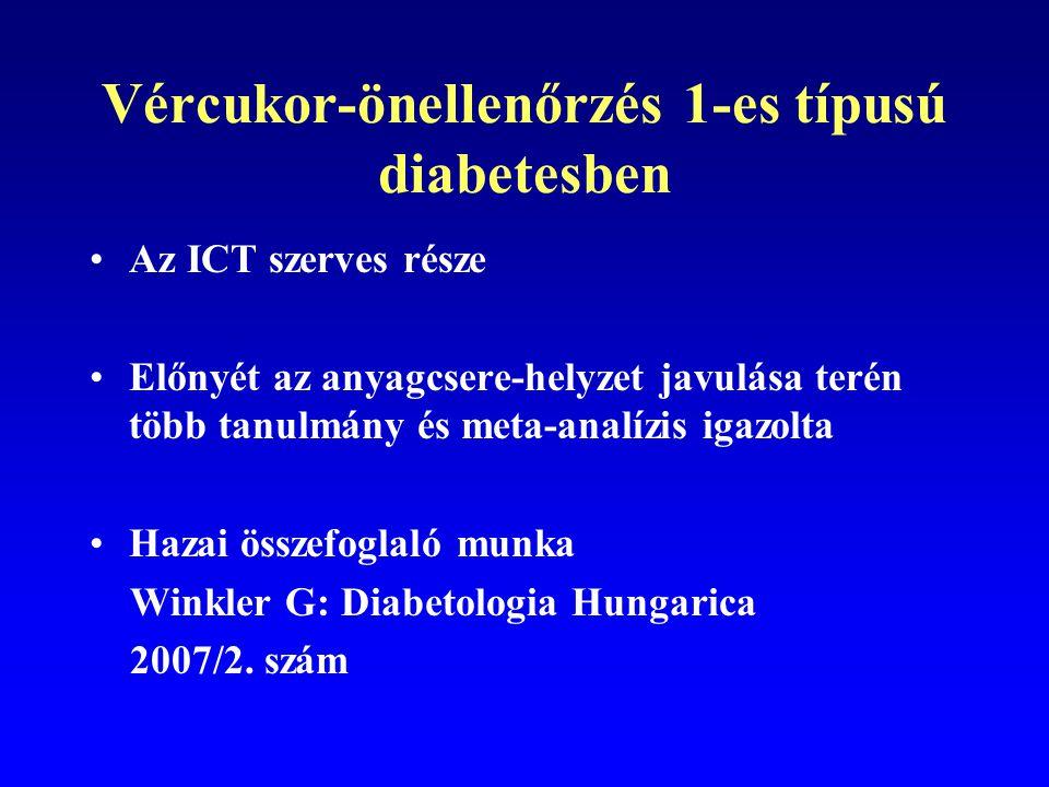Vércukor-önellenőrzés 1-es típusú diabetesben