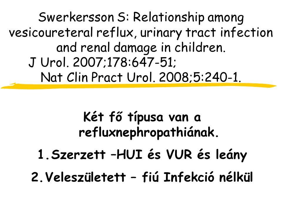 Két fő típusa van a refluxnephropathiának.