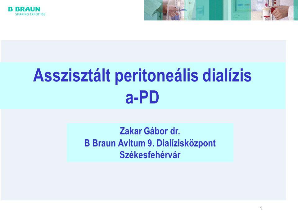 Asszisztált peritoneális dialízis B Braun Avitum 9. Dialízisközpont