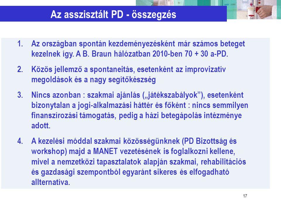 Az asszisztált PD - összegzés
