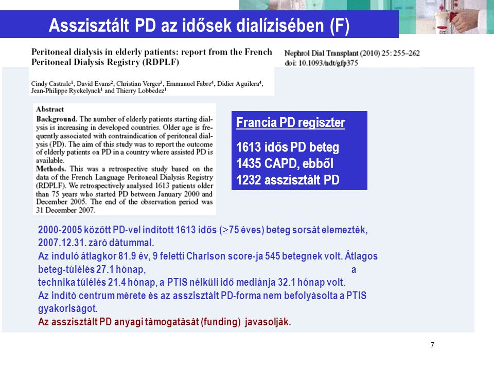 Asszisztált PD az idősek dialízisében (F)