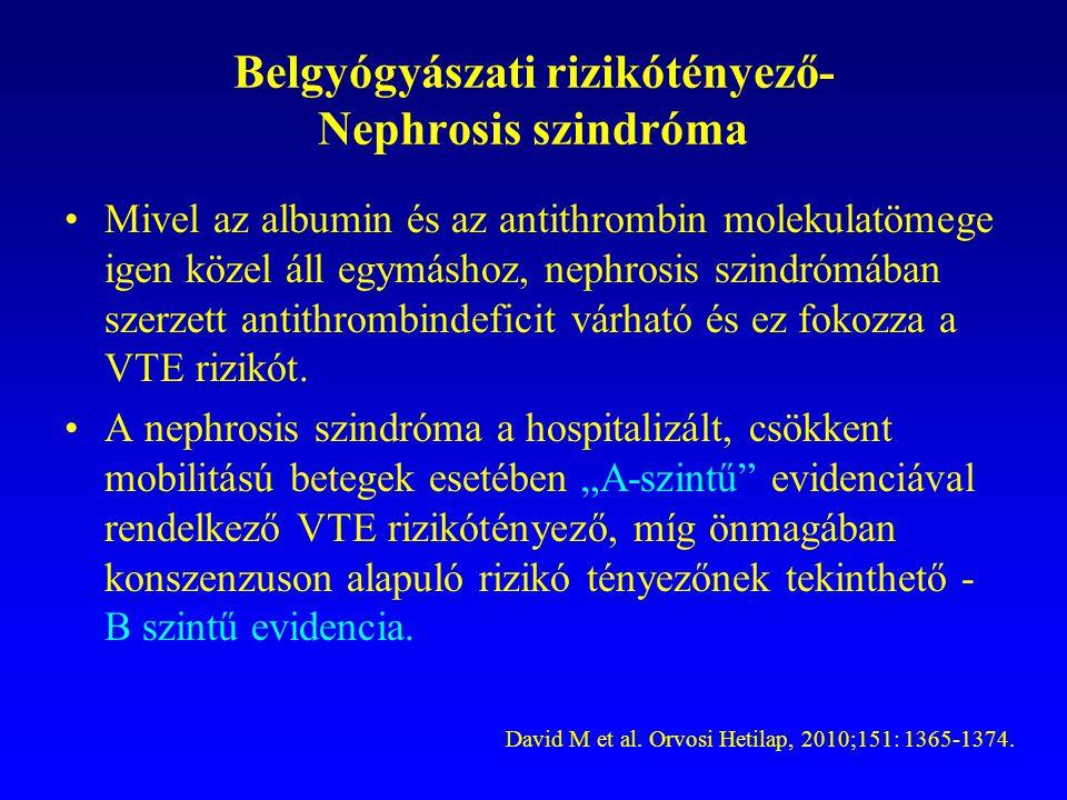 Belgyógyászati rizikótényező- Nephrosis szindróma
