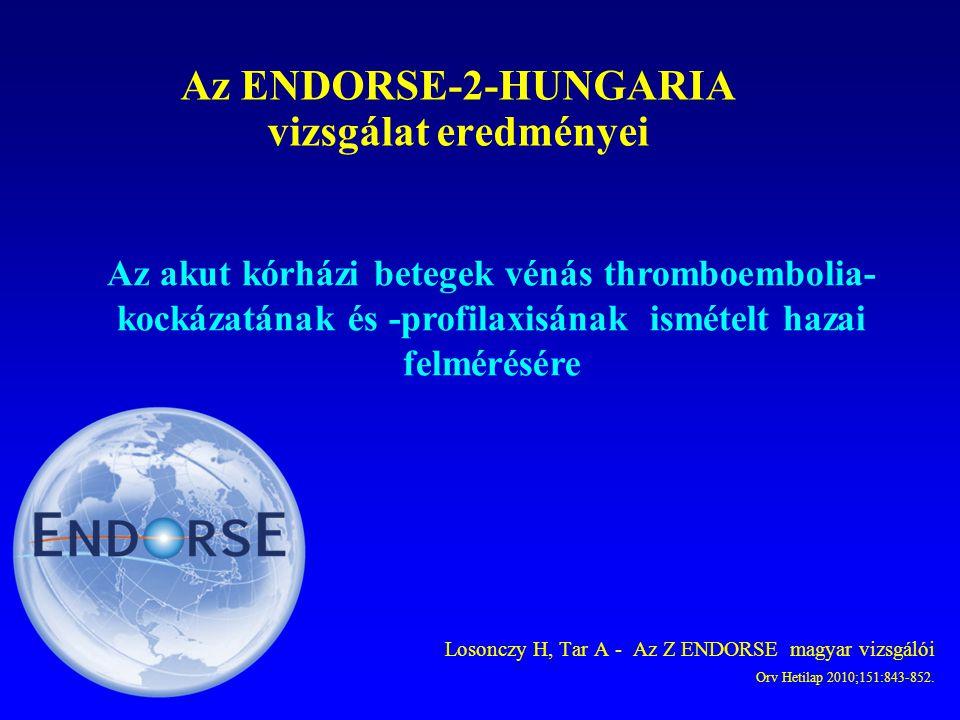 Az ENDORSE-2-HUNGARIA vizsgálat eredményei