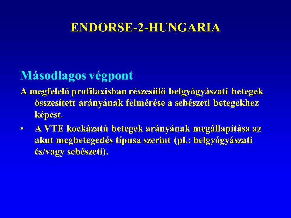 ENDORSE-2-HUNGARIA Másodlagos végpont