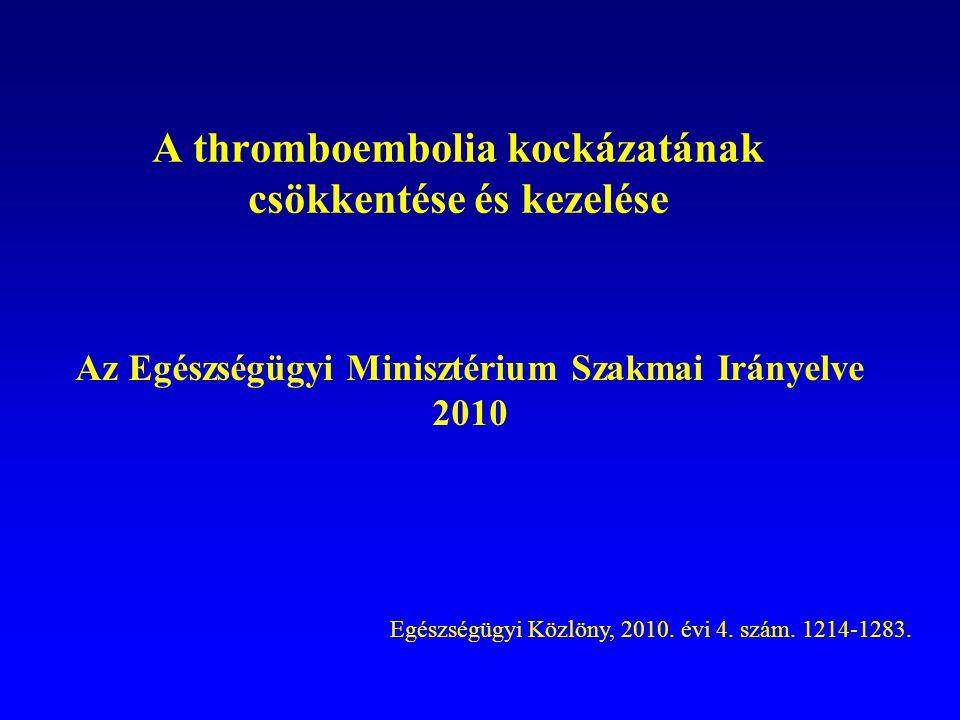 A thromboembolia kockázatának csökkentése és kezelése