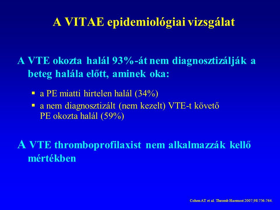 A VITAE epidemiológiai vizsgálat