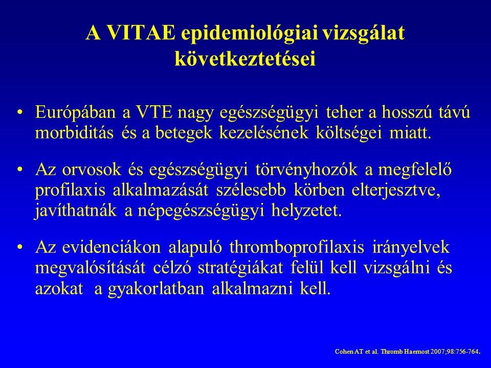A VITAE epidemiológiai vizsgálat következtetései