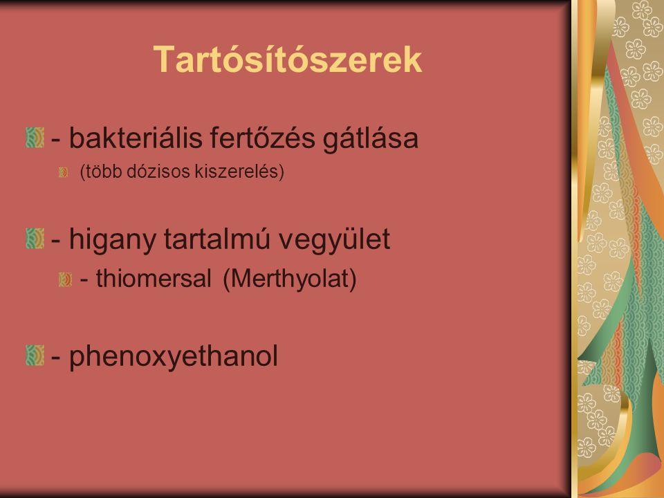 Tartósítószerek - bakteriális fertőzés gátlása