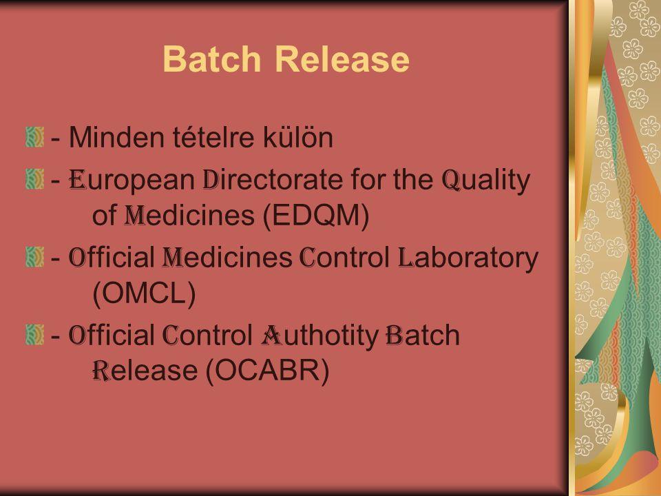 Batch Release - Minden tételre külön