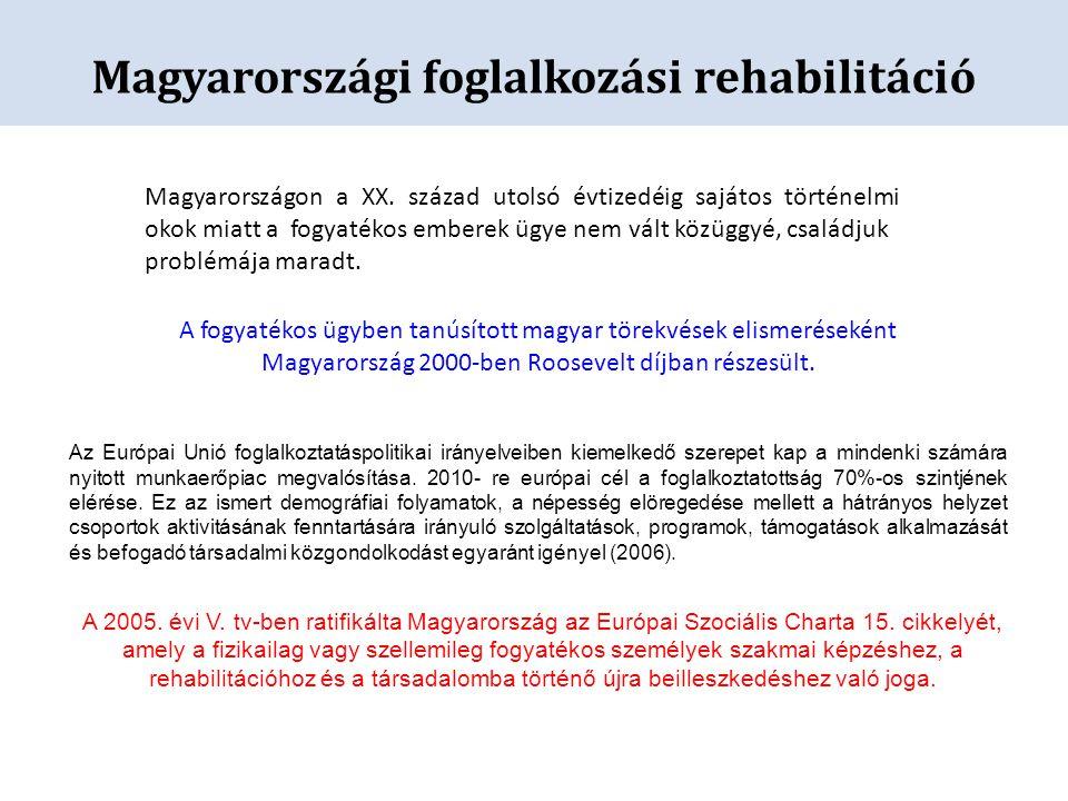 Magyarországi foglalkozási rehabilitáció