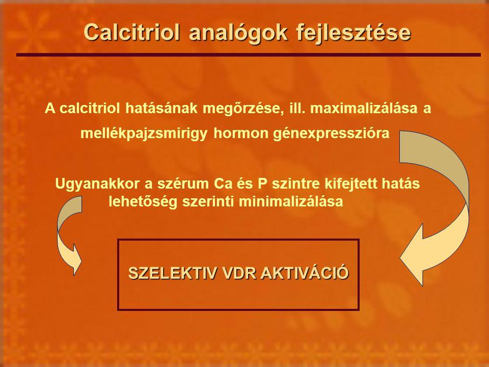 Calcitriol analógok fejlesztése