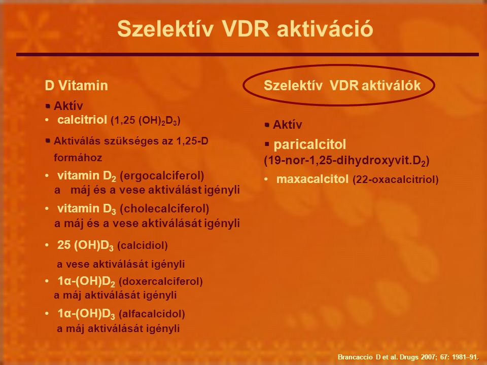 Szelektív VDR aktiváció