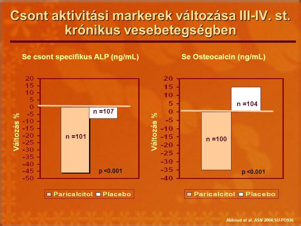Se csont specifikus ALP (ng/mL) Se Osteocalcin (ng/mL)