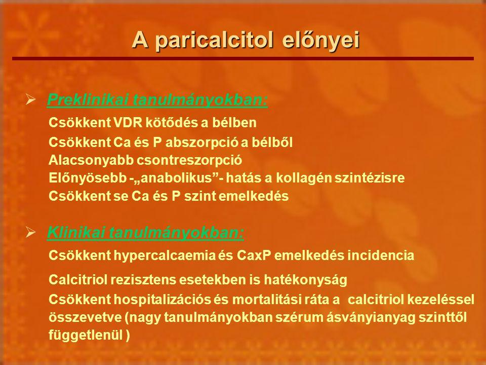 A paricalcitol előnyei