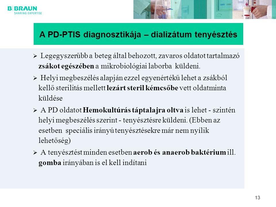 A PD-PTIS diagnosztikája – dializátum tenyésztés