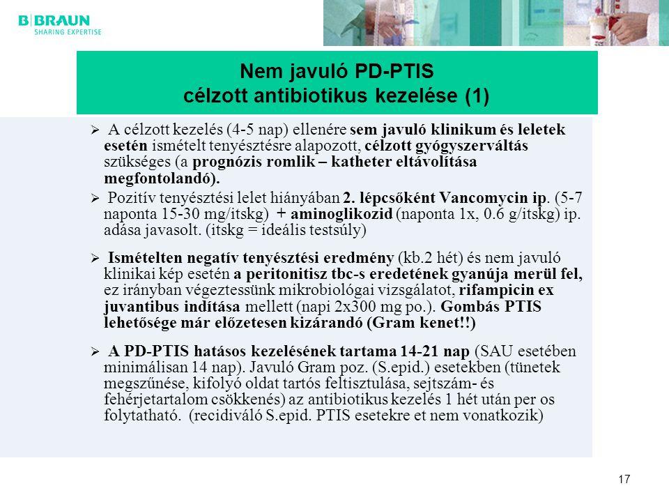 Nem javuló PD-PTIS célzott antibiotikus kezelése (1)