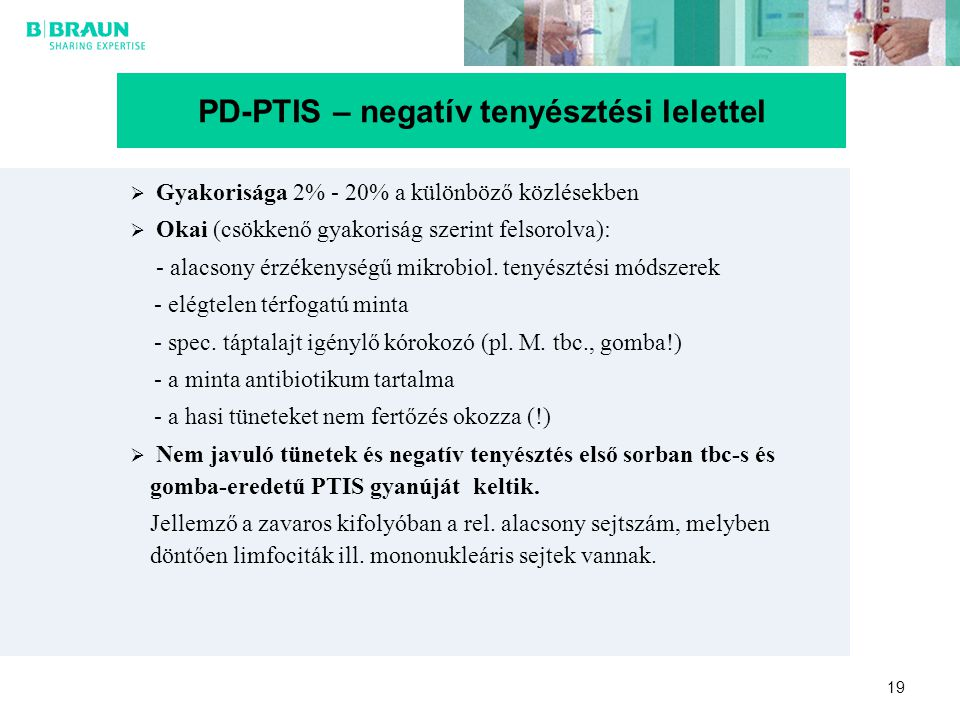 PD-PTIS – negatív tenyésztési lelettel