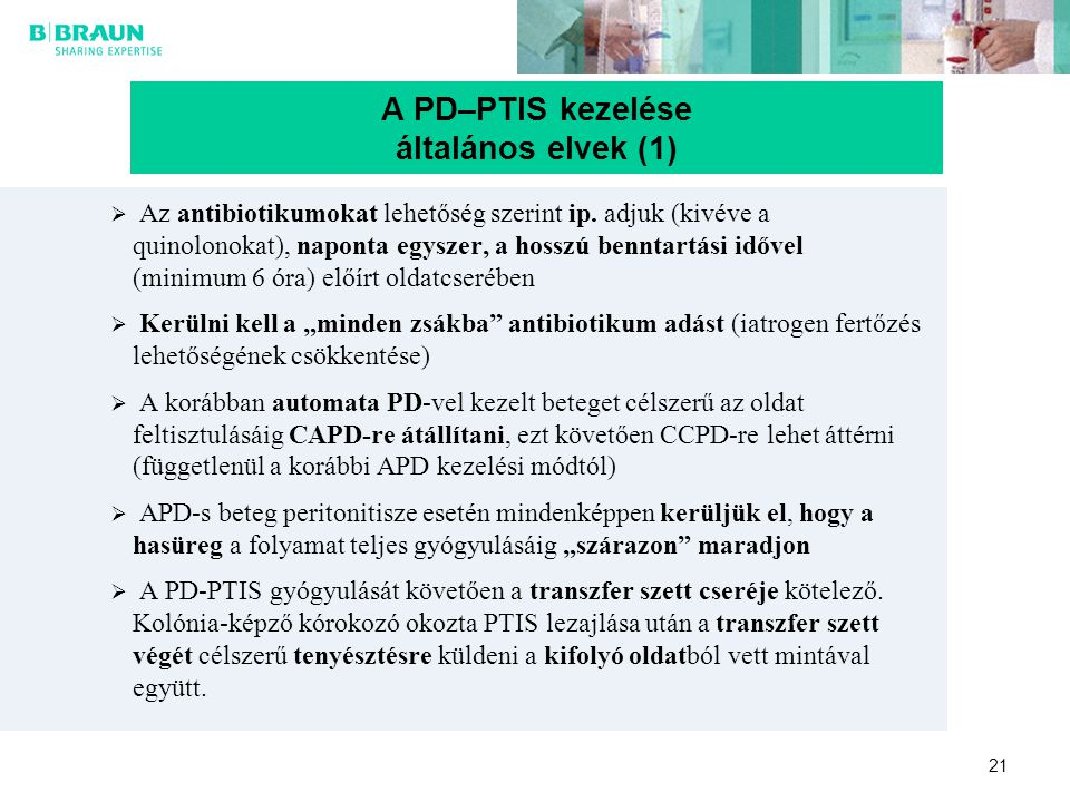 A PD–PTIS kezelése általános elvek (1)