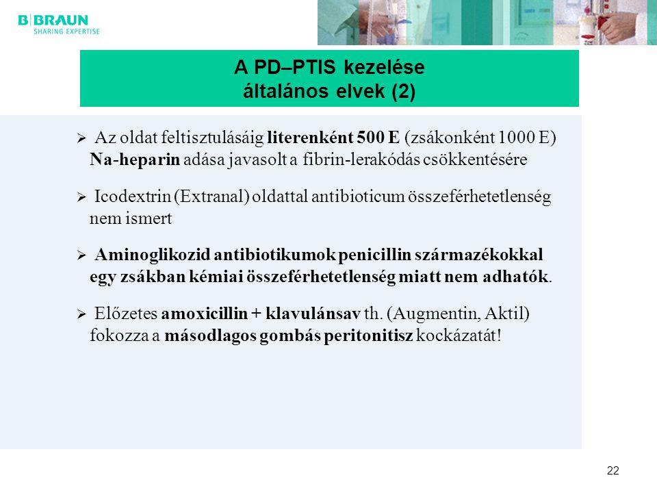 A PD–PTIS kezelése általános elvek (2)