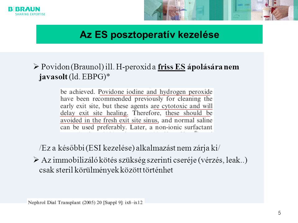 Az ES posztoperatív kezelése