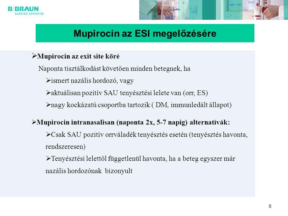 Mupirocin az ESI megelőzésére