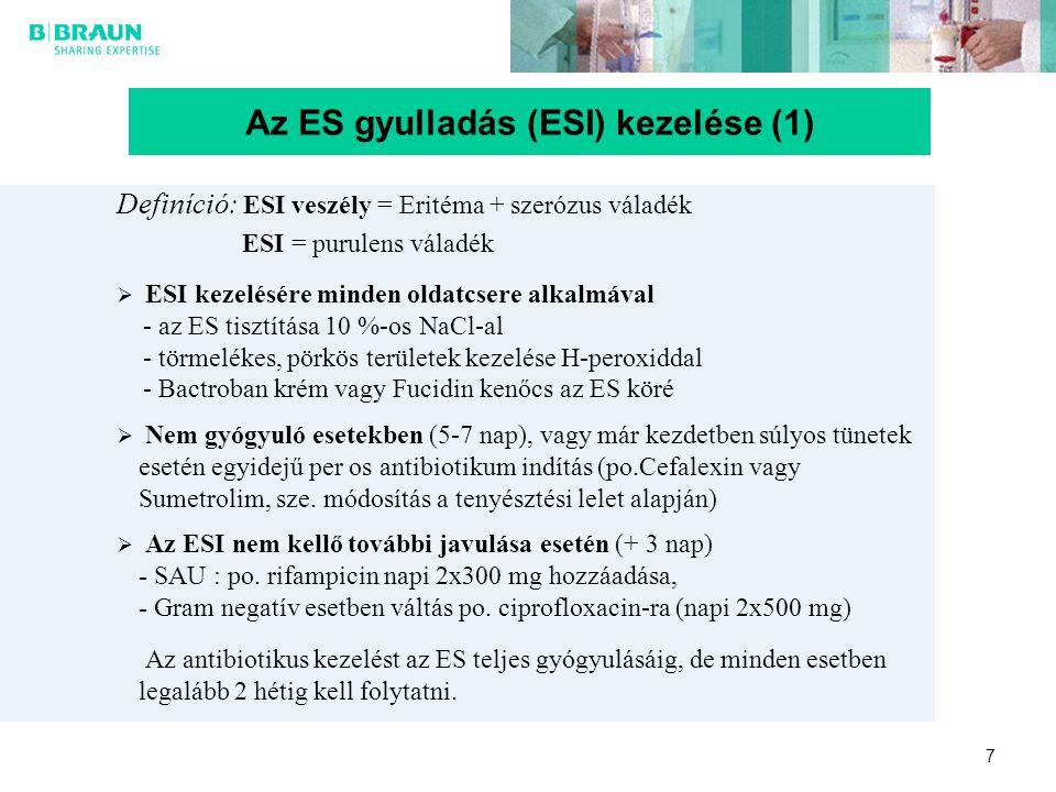 Az ES gyulladás (ESI) kezelése (1)