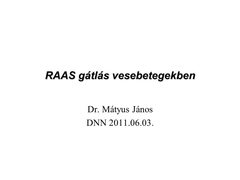 RAAS gátlás vesebetegekben