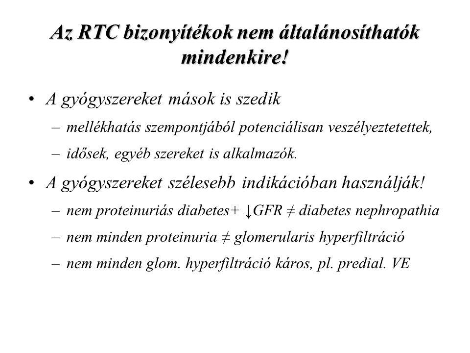 Az RTC bizonyítékok nem általánosíthatók mindenkire!