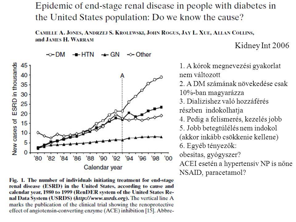 Kidney Int 2006 1. A kórok megnevezési gyakorlat nem változott