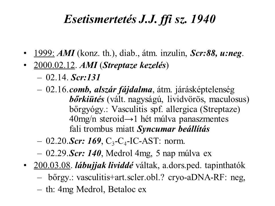 Esetismertetés J.J. ffi sz. 1940
