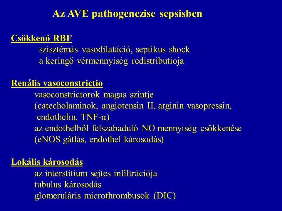 Az AVE pathogenezise sepsisben